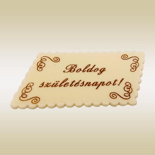 Boldog születésnapot tábla (paralelogramma)