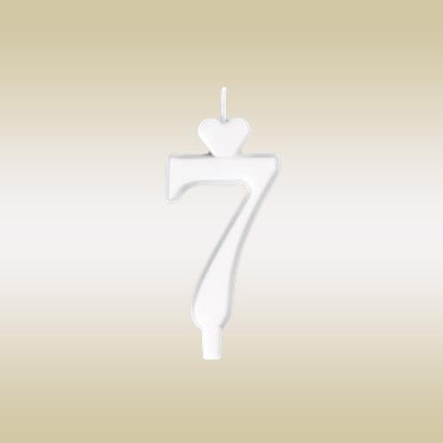 szám gyertya 7