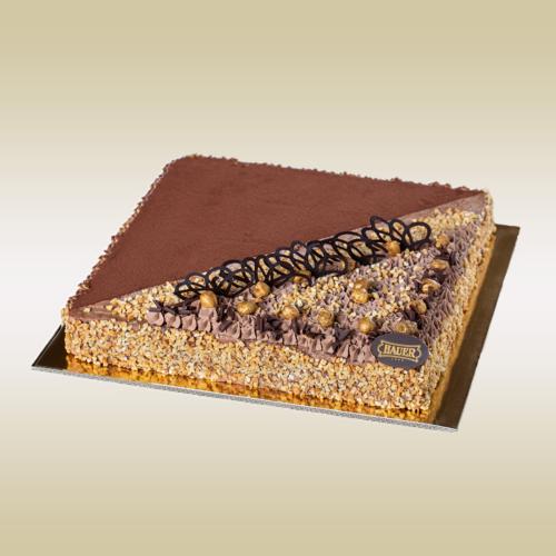 Francia mogyorós csokoládétorta
